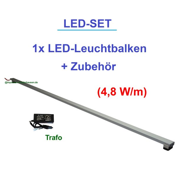 Aquarium Set.1 LED-Leuchtbalken30-200 cm Photosynthese Blau 4,8 W/m