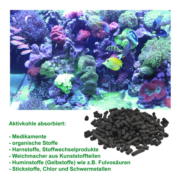 Bio natural max, Aquarium Filter Aktiv-Kohle, 175-700g (ca. 250ml-1000ml)