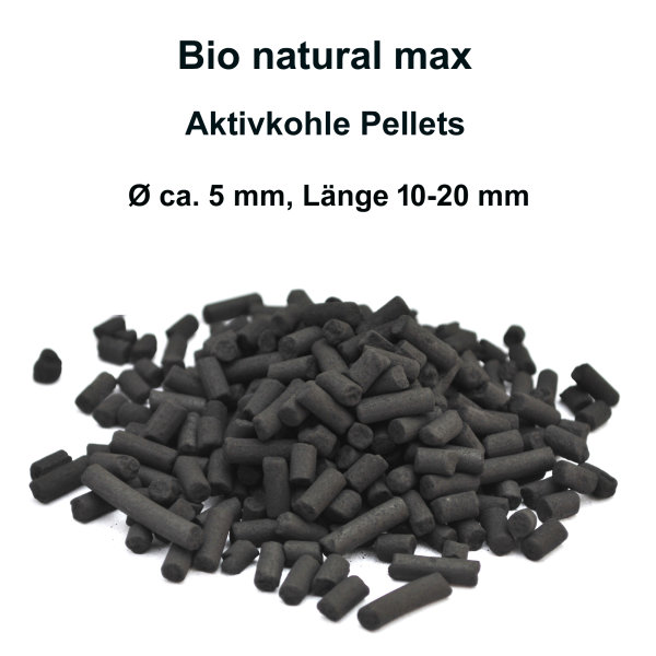 Bio natural max,Aquarium Aktiv-Kohle 1000 ml (700g)